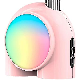 Caraele Divoom Planet-10 - Wireless Smart Table Lamp, Programmable Mood Light With Rgb Led,pink
