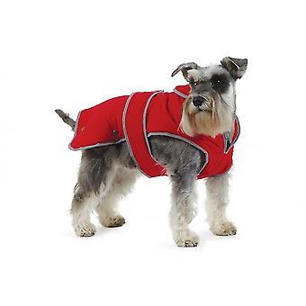 Dog apparel stormguard coat red medium medium