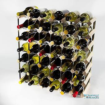 Wine racks classic 42 bottle pine wood and galvanised metal wine rack ready assembled