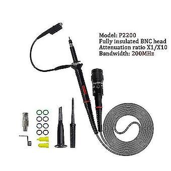 1Set hoge kwaliteit p6100 oscilloscoop sonde dc-6mhz dc-100mhz scope clip sonde gratis verzending (P2200