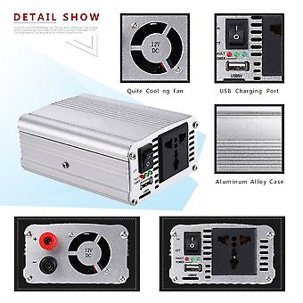 Saa300w Vehicle Voltage Inverter Dc12v To Ac110v Power Inverter Adapter Silvery