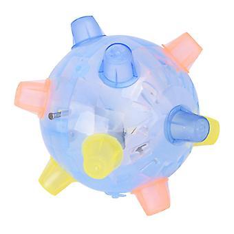 Musik Jumping Dancing Ball Flashing Light Up Musik Hüpfen Ball Spielzeug für Kinder (zufällige Farbe, keine Batterie)