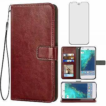 Leather Book Style Protective Cover Combine Soft Leather,protect Your Smartphone In A Classy Way,for Google Pixel 1 Xl