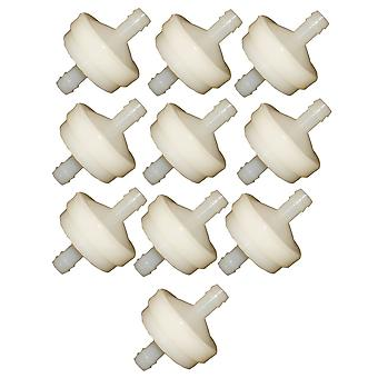 10 x White In Line Fuel Filter 75 Mic Fits Briggs And Stratton 298090 394358
