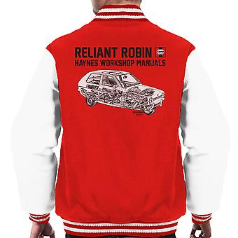 Haynes Workshop Manual Reliant Robin Black Men's Varsity Jacket