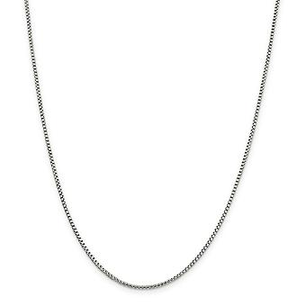 925 Sterling Silver Fancy Lobster Closure 1.75mm Half Round Box Chain Necklace - Length: 16 to 30
