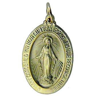 Wisiorek żółte złoto 14K cudowny Religijne Mary