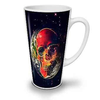 Skull Planet Earth NEW White Tea Coffee Ceramic Latte Mug 12 oz | Wellcoda