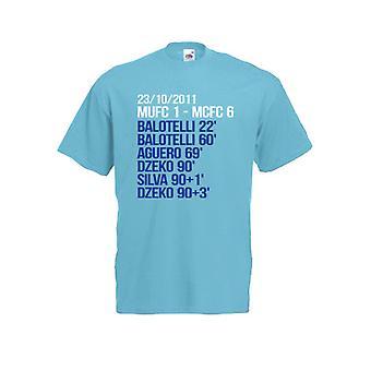 2012 Manchester City 6-1 vinnere T-Shirt (blå)