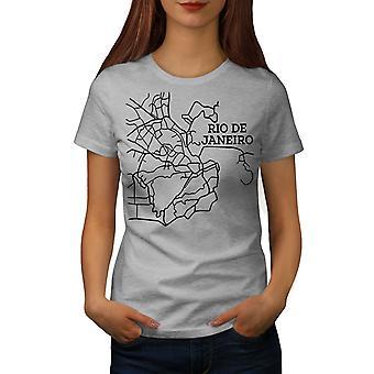 Rio De Janeiro Fashion Women GreyT-shirt | Wellcoda
