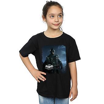 DC Comics Girls Batman Arkham Knight plakaten Distressed t-skjorte