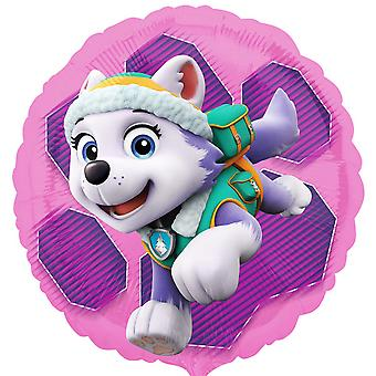 Anagram 18 Inch Paw Patrol Skye & Everest Circle Foil Balloon