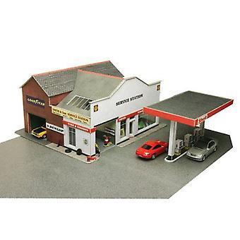 Metcalfe Po281 Oo Gauge Petrol Station Cardboard Kit