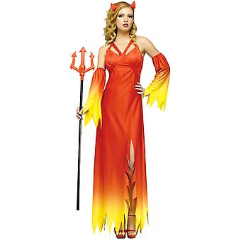 Devil Delight Red Evil Gothic Halloween Women Costume