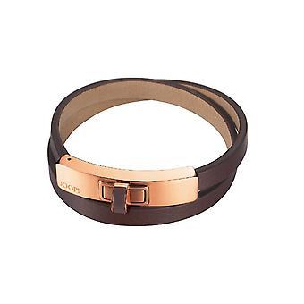 Joop women's bracelet stainless steel Rosé leather edification JPBR10360F200
