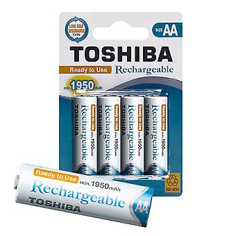 TOSHIBA AA Rechargeable High Capacity Batteries Ni-MH Guaranteed min. 1950 mAh