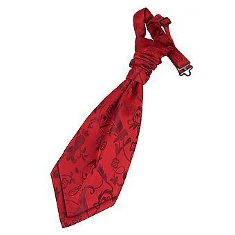 Burgunder Floral Pre gebundene Hochzeit Krawatte für jungen
