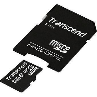 Transcend Premium microSDHC card 8 GB klasse 10 incl. SD adapter