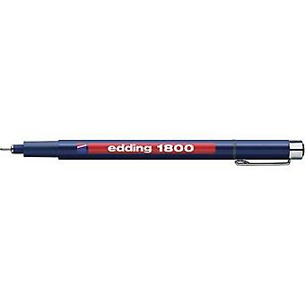 Edding 4-180001-1-1001 edding 1800 profipen Fineliner الأسود 0.25 ملم 1 pc (s)
