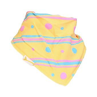 Yellow stripes & dots bandana bib