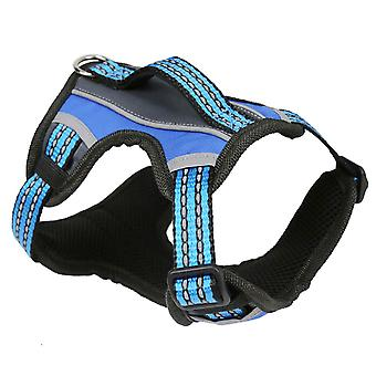 MNC Pet 2X-Sport Dog Adjustable Harness 3D Mesh Blue
