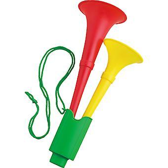 Groen geel rood hoorn-hoorn accessoire carnaval Halloween