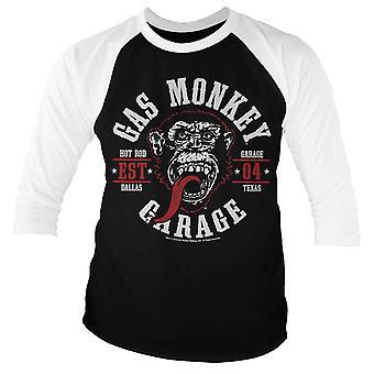 Gas Monkey Garage T Shirt Round Seal Official Mens Black Baseball 3/4 Sleeve