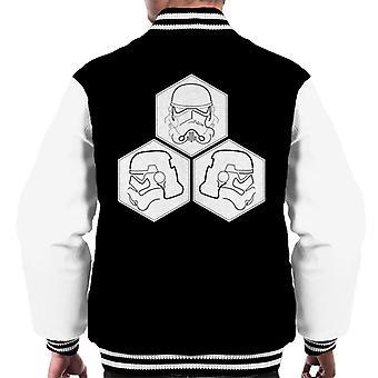 Original Stormtrooper Line Art Helmet Hexagons Men's Varsity Jacket