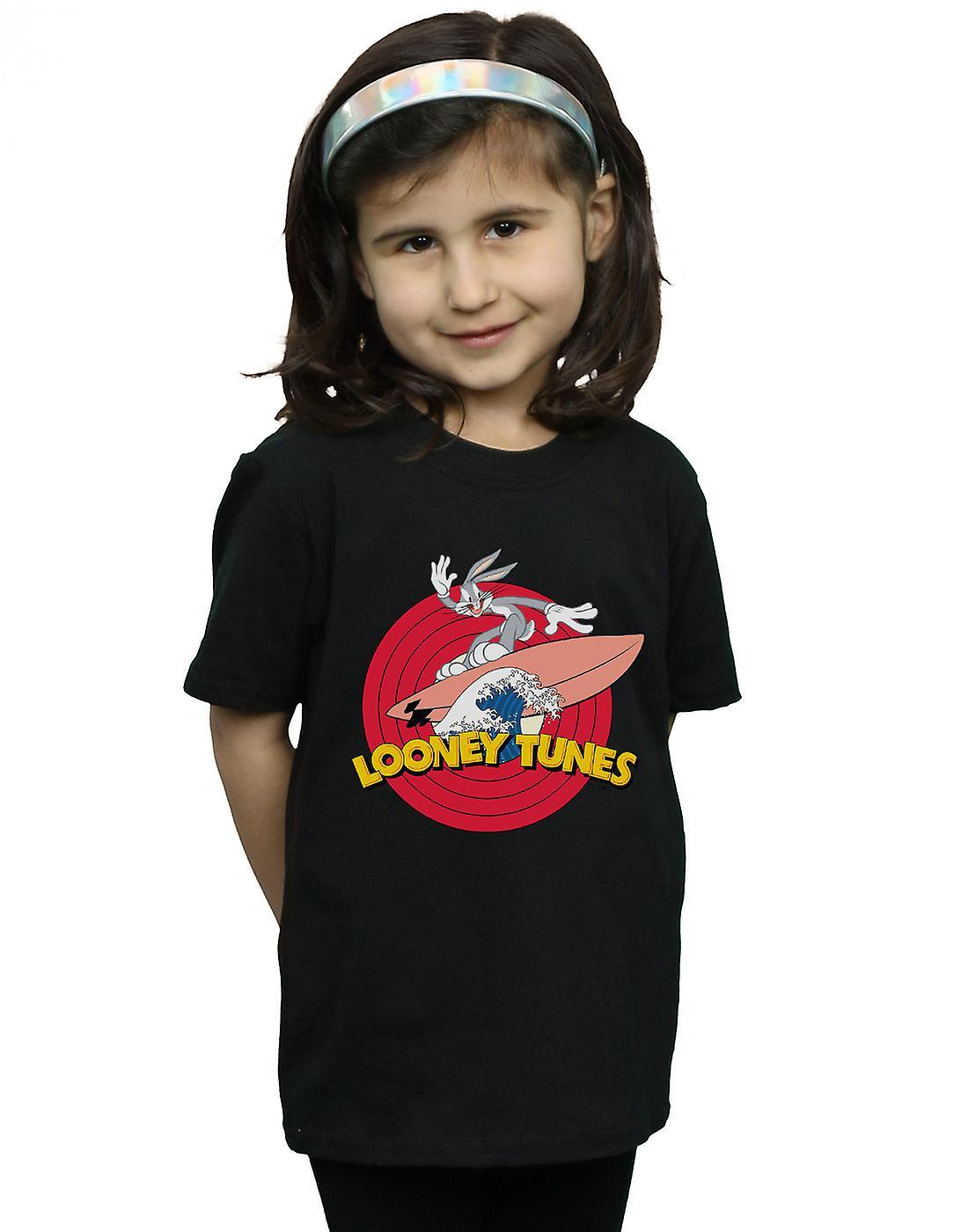 Looney Tunes Girls Bugs Bunny Surfing T-Shirt