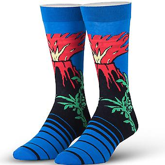 OddSox Mens Crew Knit Socks ~  Magma