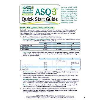 Åldrar och stadier frågeformulär: ASQ-3 Quick Start Guide: ett förälder-klar, barn-övervakning System