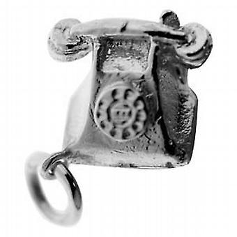 الفضة 12x13mm قلادة الهاتف الصلبة أو سحر