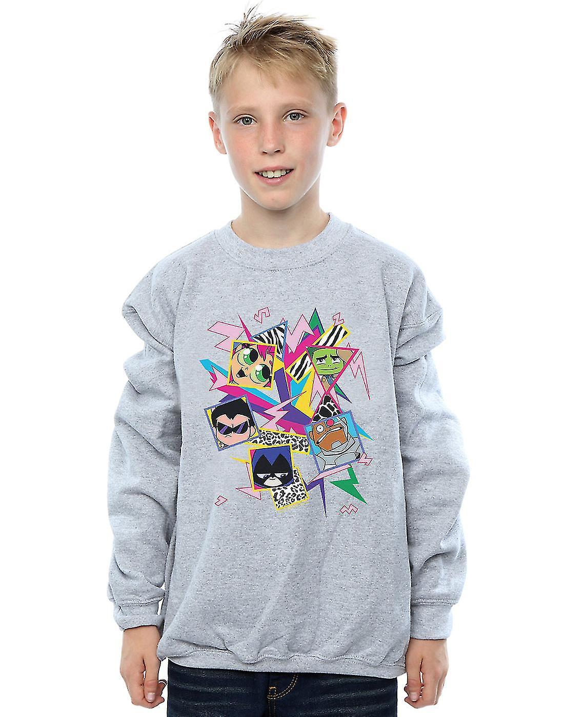 DC Comics Boys Teen Titans Go 80s Icons Sweatshirt