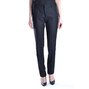 Saint Laurent Ezbc022001 Women's Black Wool Pants