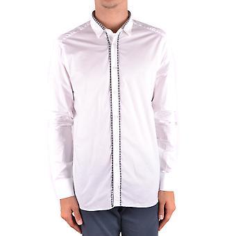 Neil Barrett Ezbc058061 Men's White Cotton Shirt