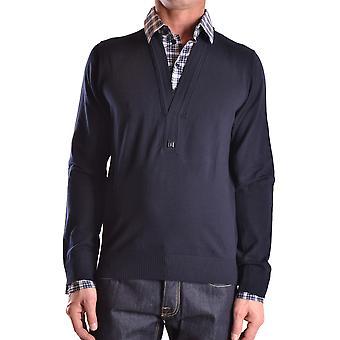 Bikkembergs Ezbc101022 Hombres's Suéter de Lana Azul