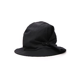 Yohji Yamamoto Nvh01100 Women's Black Cotton Hat
