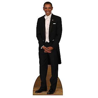 الرئيس باراك أوباما سهرة انقطاع الكرتون شمعي/الواقف/دوري