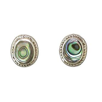 Gorgeous 925 Sterling Silver Shiny Shell Stud Earrings
