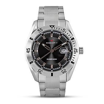 Redshift 7 Exosphere Bracelet Watch w/Date - Silver/Charcoal