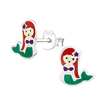 Children's Sterling Silver Mermaid Stud Earrings