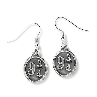 Harry Potter Sterling Silver Platform 9 ¾ Drop Earrings