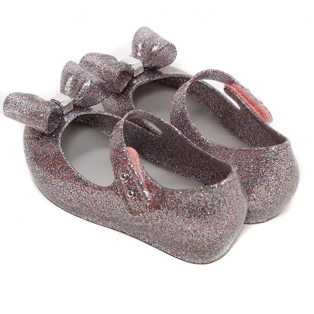 Melissa Shoes Mini Ultragirl Bow 19 Shoe, Multi Glitter