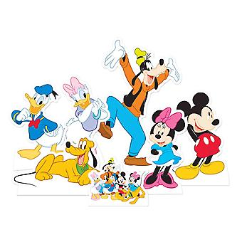 Mickey Mouse and Friends Official Table Top Cardboard Cutout / Standees Party Pack of 7