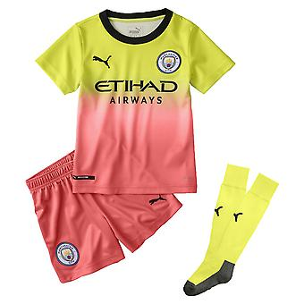 Puma Manchester City 2019/20 Junior Kids Troisième Kit de Football Jaune