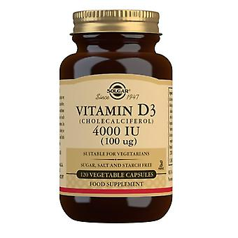 סולגאר ויטמין D3 100ug (4000iu) Vegicaps 120 (52908)