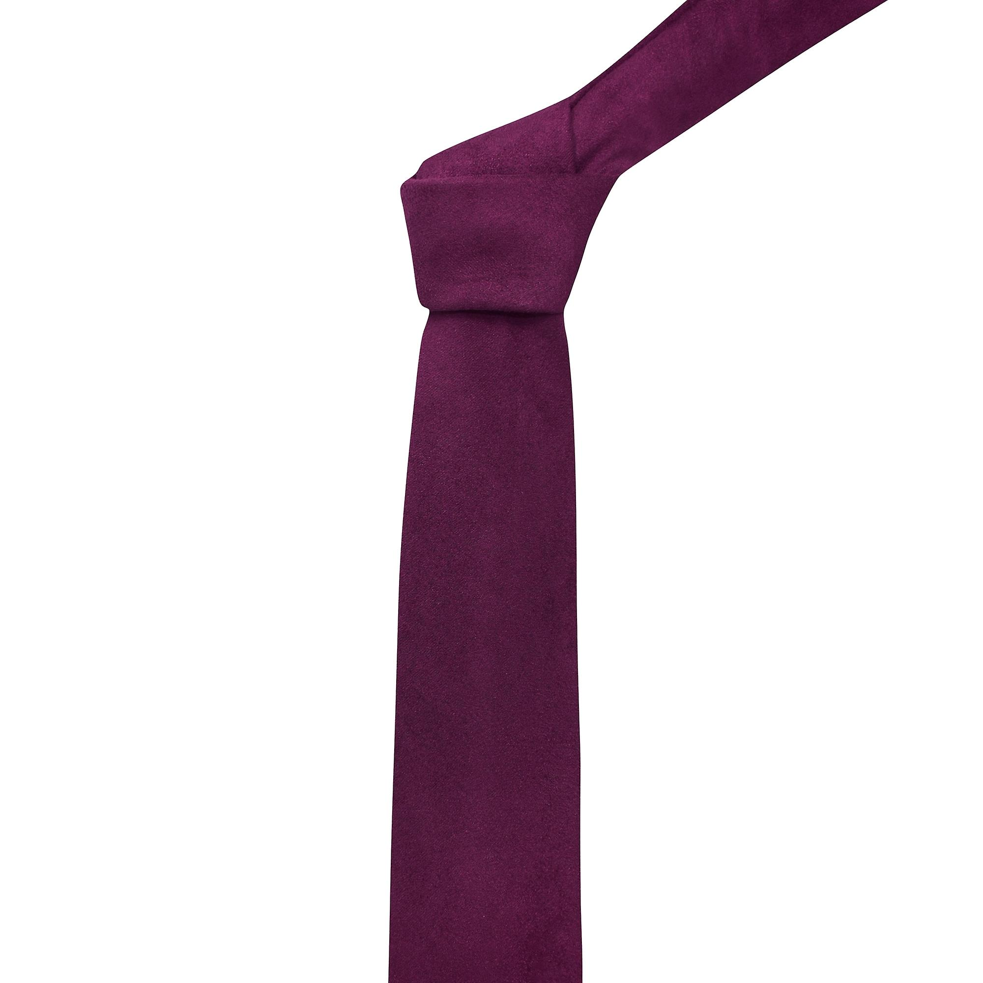 Luxury Plum Purple Suede Tie