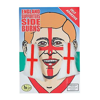 Bristol Novelty Unisex Adults England Sideburns (1 Pair)