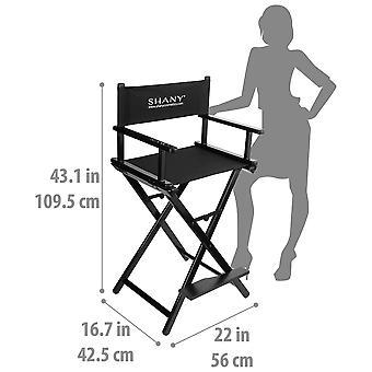 SHANY Studio Director Chair - Solid Aluminum Barstool - Black