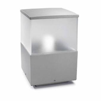 1 Light Small Outdoor Bollard Light Grey Ip54